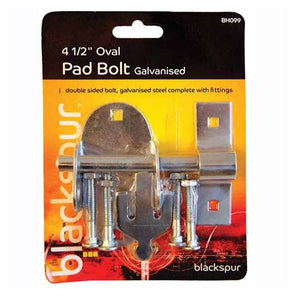 Oval pad bolt