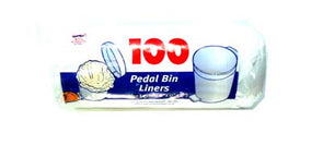 100pc Pedal Bin Liners