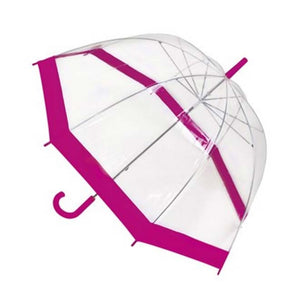23 inch Clear Dome Umbrella with Colour Border