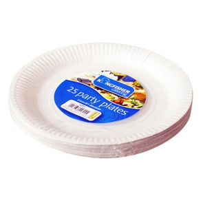 25 Pack Paper Plates 9 Inch