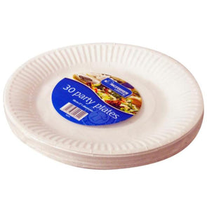 30 Pack Of 7 Inch White Disposable Plates