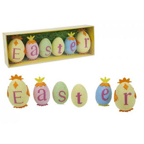Polyfoam Easter Egg Text Decoration
