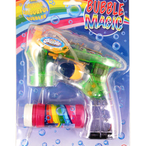 Battery Operated Bubble Gun With Lights