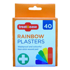 Treat & Ease Rainbow Plasters 40 Pack