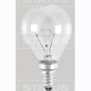 Twin pack 40W round E14 SES clear bulbs