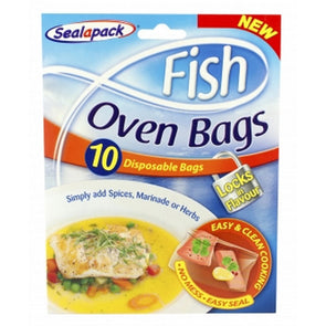 SealaPack Fish Oven Cookafish Bags 10 Pack
