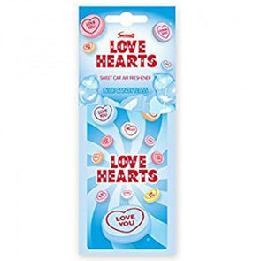 Love Hearts Car Air Freshener Candy Floss