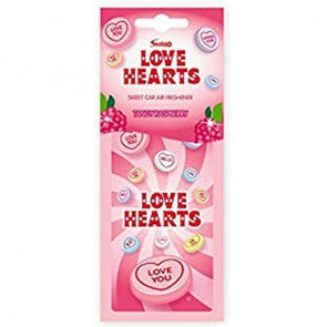 Love Hearts Car Air Freshener Tangy Raspberry