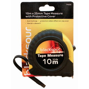 10m x 25mm Tape Measure with Protective Cover