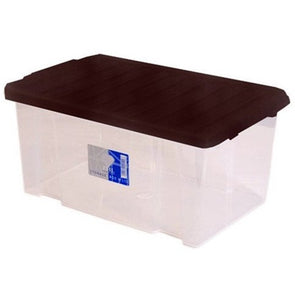 Stackable Storage Container Box with Black Lid 5L