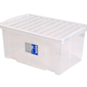 Storage box with clear lid