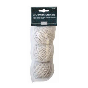 3 rolls of cotton string