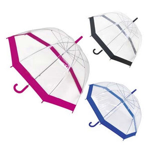 Clear Dome Umbrella with Colour Border