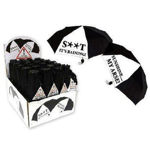 Mini Black umbrella with Humourous Saying