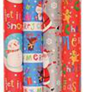 Christmas Gift Wrap Roll 10m Paper Cute Design