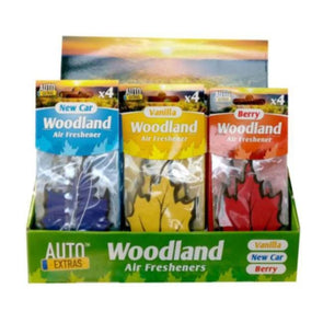 Woodland Car Air Freshener 4pk