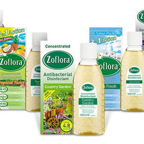 Zoflora Concentrated Disinfectant Assorted Fragrances 120ml - Case of 12