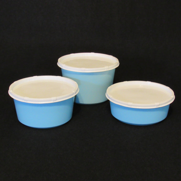 Live Bait Cups with Vented Lids,  Blue Recycled Plastic, 8 ounce 12 ounce and 16 ounce