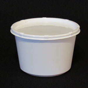 Live Bait Cups with Side Vented Lids,  White Plastic Bait Cup, White Lid, 16 ounce