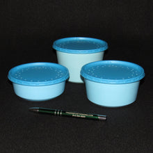 Load image into Gallery viewer, Live Bait Cups with Vented Lids,  Blue Recycled Plastic, 8 ounce 12 ounce and 16 ounce