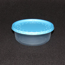Load image into Gallery viewer, Clear Plastic Live Bait Cups and Blue Lids