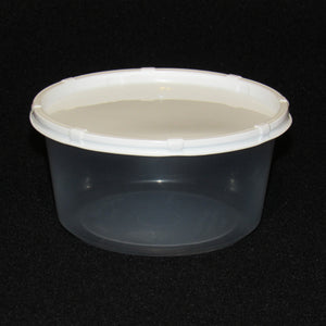 Clear Plastic Live Bait Cups and White Lids