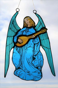 Stained Glass - Angel in Blue Robe