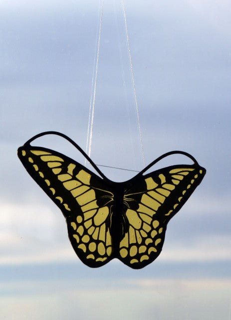 Stained Glass - Butterfly in Shades of Yellow