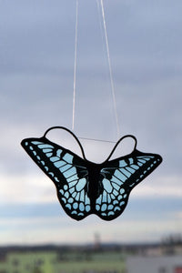 Stained Glass - Butterfly in Shades of Blue