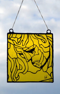 Stained Glass - Apollo in Shades of Yellow