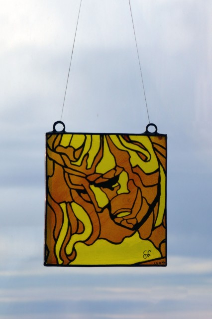 Stained Glass - Apollo in Shades of Yellow and Orange
