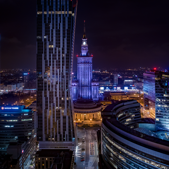 "Photo ""Złote centrum"" by Drone in Warsaw"