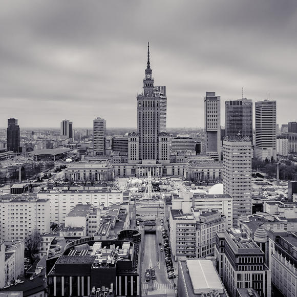 "Photo ""Warszawa Black & White"" by Drone in Warsaw"