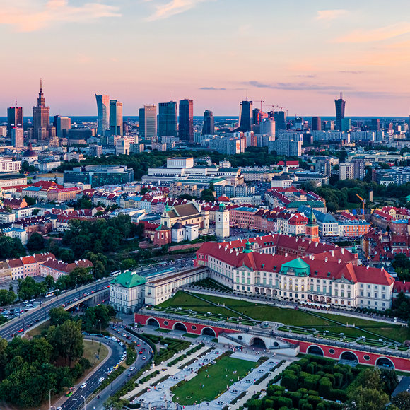 "Photo ""Pastelowa Warszawa"" by Drone in Warsaw"