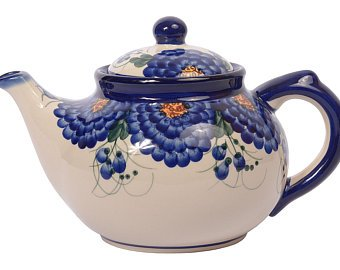 Boleslawiec  Polish Pottery  Handcrafted Ceramic 7-Cup Teapot with Lid (1350ml)