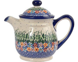 Boleslawiec  Polish Pottery  Handcrafted Ceramic 9-Cup Teapot with Lid (1500ml)