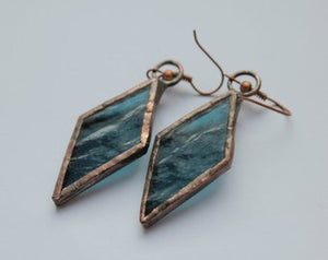 Geometric handmade earrings