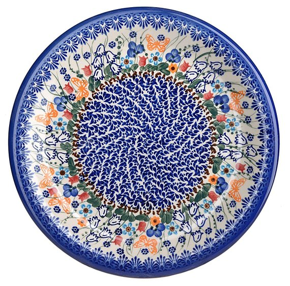 Boleslawiec Polish Pottery Hand Painted Ceramic Dinner Plate