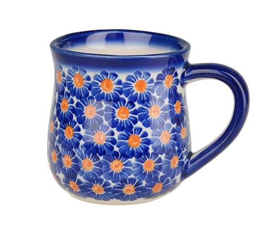 Boleslawiec Polish Pottery Hand Painted Ceramic Mug 350 ml