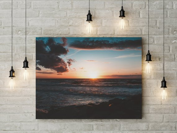 Poland-Sunset on canvas
