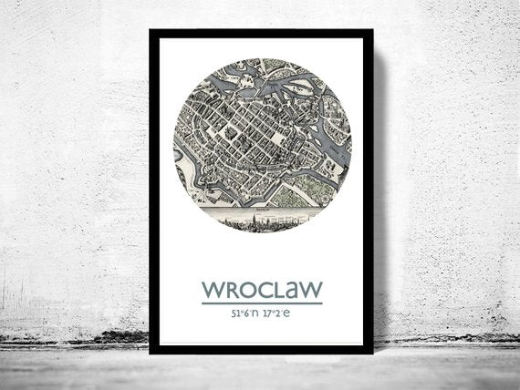 Wroclaw - City Poster - City Map Poster Print - Posters