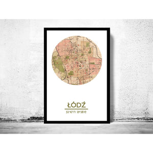 Ód- City Poster - City Map Poster Print - Posters