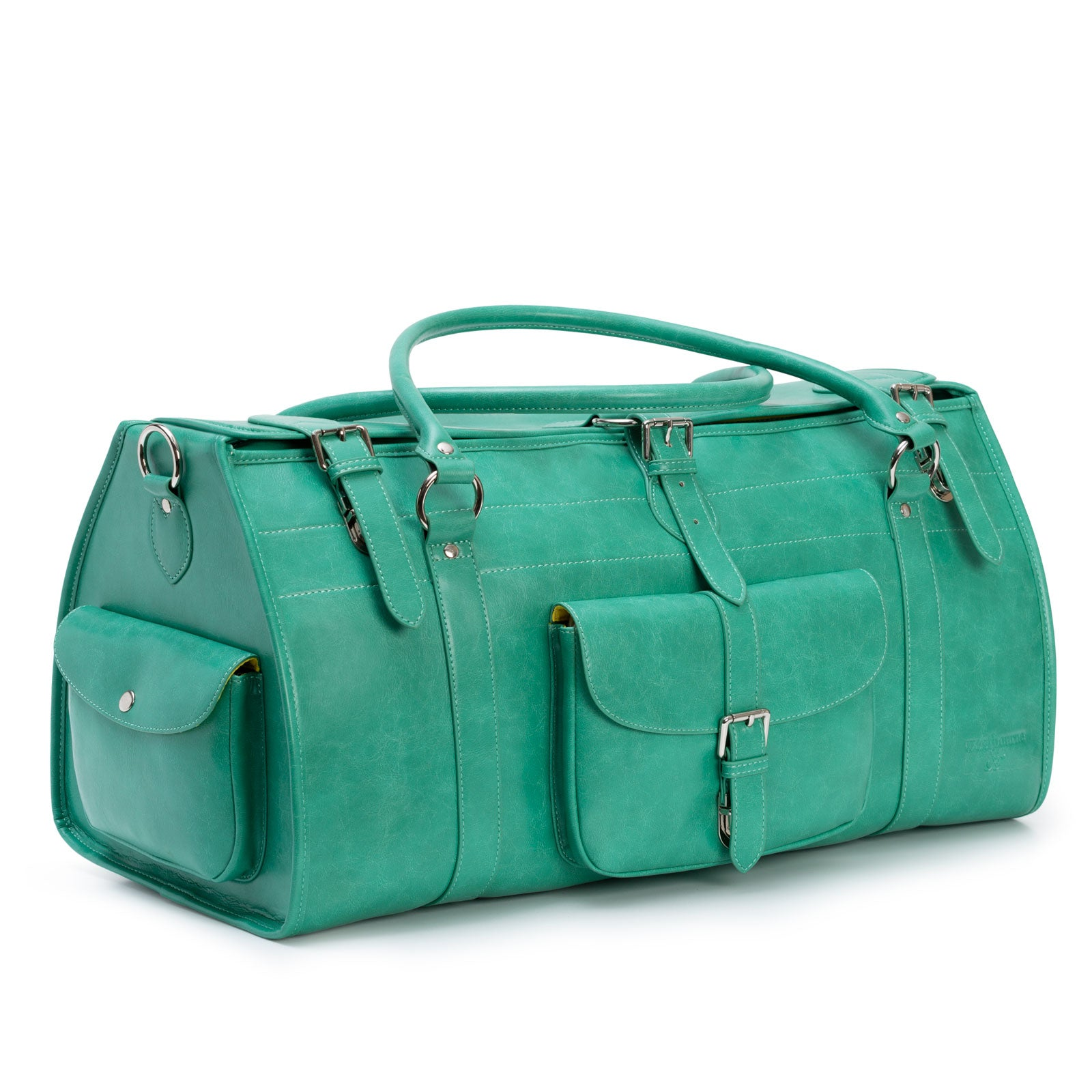Gloucester green leather travel bag