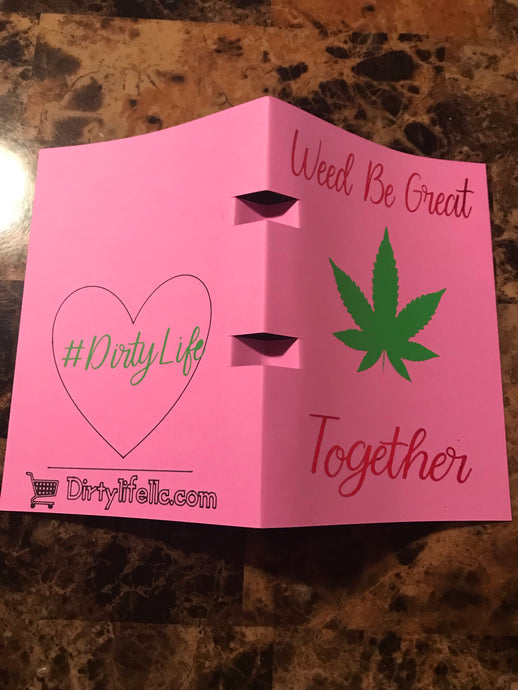 Stoner Valentines Day Cards with Pre-Roll Holder