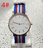 DW Men nylon with double needle ultra-thin fashion watch slim men and women watches Geneva with box