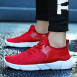 Fashion Men's Straps Sports Running Casual Sneakers Solid Shoes