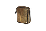 Gold Embossed Python Stella Jewelry Case