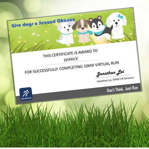Give dogs a second chance - shike virtual run