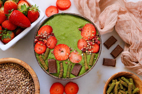 Cacao For Coconuts Trupo Treats Vegan Green Smoothie Bowl