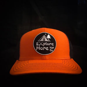 The Explorer- Orange And Black - Explore More Hat Co